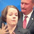 When the sign language interpreter steals the spotlight…