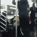 Instant Karma - Pole dancing is not his skill.