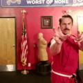 Odacufurrybrony na sua aula de taekwondo treinando combate com faca