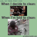 I don't like cleaning