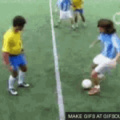 dancing soccer play