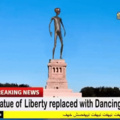 Howard replaces statue of liberty
