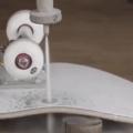 Skateboard wheel under 60k PSI waterjet