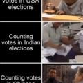 Contagem de votos em casa país