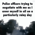 U mad officer?