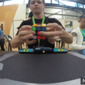 He solved a rubiks cube in one second.
