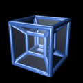 Isso é um hipercubo, um objeto quadrimensional